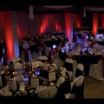 Wedding Reception Lighting Red